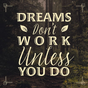 dreams don't work unless you do instagram post Motivationsplakat