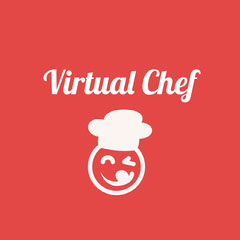 White and Red Game Logo Chef