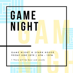 GAME<BR>NIGHT Game Night Flyer