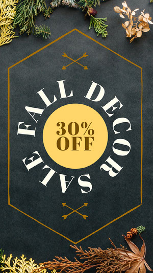 Fall Decor Sale Social Post Mediesæt