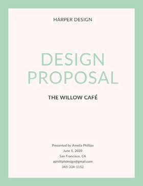 Light Green Design Business Proposal Proposal