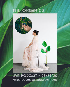 Green Leaf Podcast Instagram Portrait with Woman and Plant Wellness