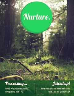 Green Nurture Forest Health Magazine Cover Forest