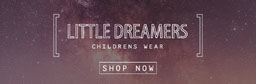 Night Sky Photo Children Clothing Store Horizontal Ad Banner