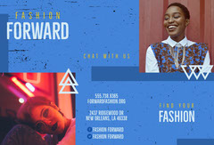 Blue Fashion Store Brochure with Fashion Models Fashion