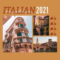 Orange Italian Vacation Instagram Square  Italy