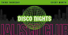 Green Black and Pink Disco Night Advertisement Club Party