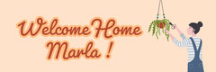 Cream Welcome Home Banner Welcome Poster