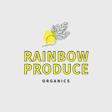 White & Yellow Organic Produce Logo Logo