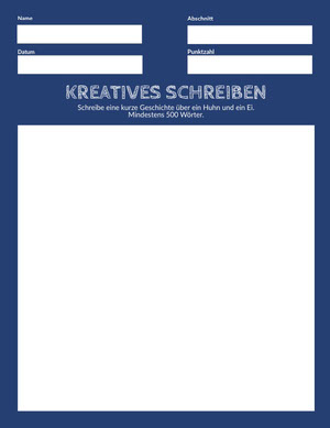 creative writing worksheet  Arbeitsblatt