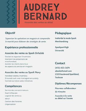 Audrey Bernard CV professionnel