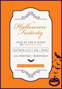 Regal Halloween Party Invitation Halloween Party Invitation