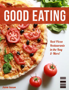 Grey and Delicious Pizza Magazine Cover Pizza