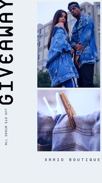 Fashion Store Denim Sale Instagram Story Photo de produit Amazon
