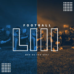 Blue and Orange Football Ad Instagram Post Teams