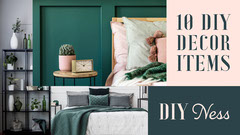 Pink Green DIY 10 Decor Items Youtube Thumbnail  Decor