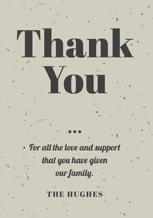 Thank <BR>You  Funeral Thank You Card