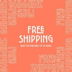 free shipping instagram Orange