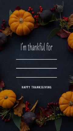 Pumpkin Happy thanksgiving Instagram Story Thanksgiving