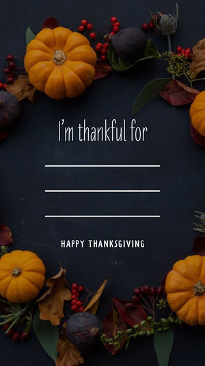 Pumpkin Happy thanksgiving Instagram Story Happy Thanksgiving Card Messages