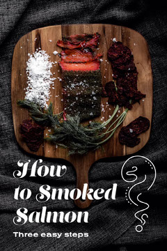 smoke salmon pinterest  Pinterest