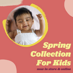 Pink & Yellow Kids Spring Collection Instagram Square Spring