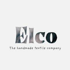 Cloth Typography Handmade Textile Company Logo Typography
