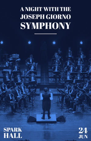 A night with the<BR>Joseph Giorno<BR>Symphony Poster di concerto