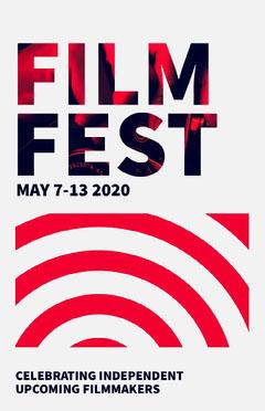 Red Modern Film Festival Poster Film Festival Poster