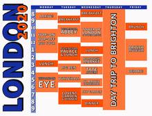 Blue and Orange Travel Timetable Pianificazione