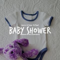 Grey Baby Shower Teddy Instagram Square Baby Shower