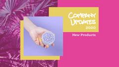 pink purple yellow neon salon company updates presentation cover  Nail Salon
