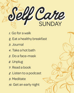 Yellow Floral Detail Self Care List Instagram Portrait Sunday