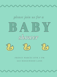 Make Your Own Baby Shower Invitations For Free Adobe Spark