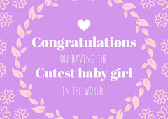 Congratulations Baby's First Year