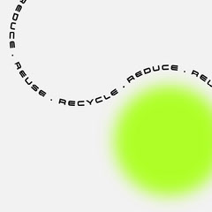 green white black circle abstract reduce reuse recycle instagram square  Earth