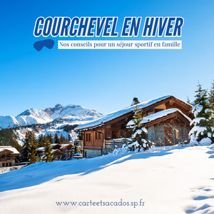 Blue and White Courchevel in Winter Instagram Square Flyer publicitaire