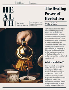 health newsletter Tea Time