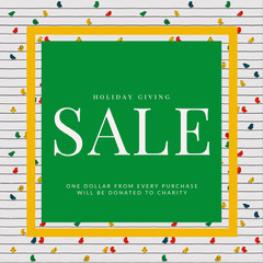 Green and White Holiday Sale Ad Instagram Post Holiday Sale