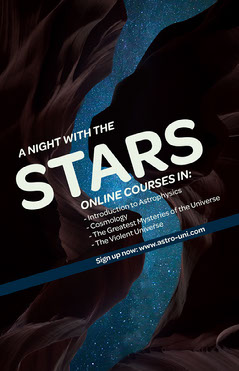 White Blue and Brown A Night With The Stars Online Courses Poster Sky