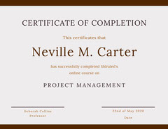 Brown Online Course Completion Certificate Brown