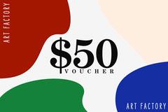 Multicolored Art Factory Gift Voucher Art