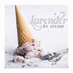 White Lavender Ice Cream Instagram Square Ice Cream Social Flyer