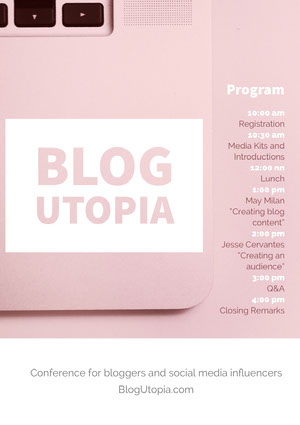 Pink and White Blog Utopia Program Event Program