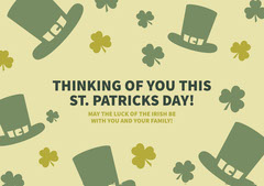 THINKING OF YOU THIS<BR>ST. PATRICKS DAY! Seasonal