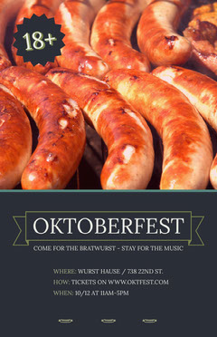 Oktoberfest Event Flyer with Sausages Lifestyle