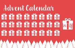Red & White Advent Calendar Poster Countdown