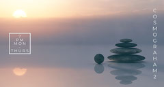 Sunset Colors Twitch Banner with Balanced Rocks Sunset