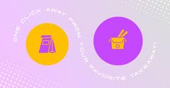 Purple Circles Takeaway Instagram Landscape Drink
