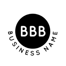 Black and White Business Logo with Letters in Circle Logo